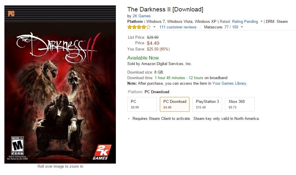 'Amazon_com_ The Darkness II [Download]_ Game Downloads' - www_amazon_com_2K-Games-40884Darkness-II2-Darkness_dp_B006JA7EWW_ref=sr_1_2762_twi_sof_1_189-7076562-3893728_s=videogames-download&ie=UTF8&qid=1446441805&sr.jpg
