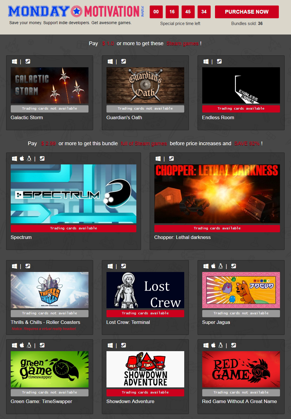 IndieGala Monday Motivation Bundle of Steam games.png