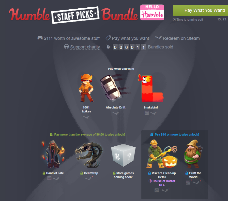 Humble Staff Picks Bundle  Hamble  pay what you want and help charity .png