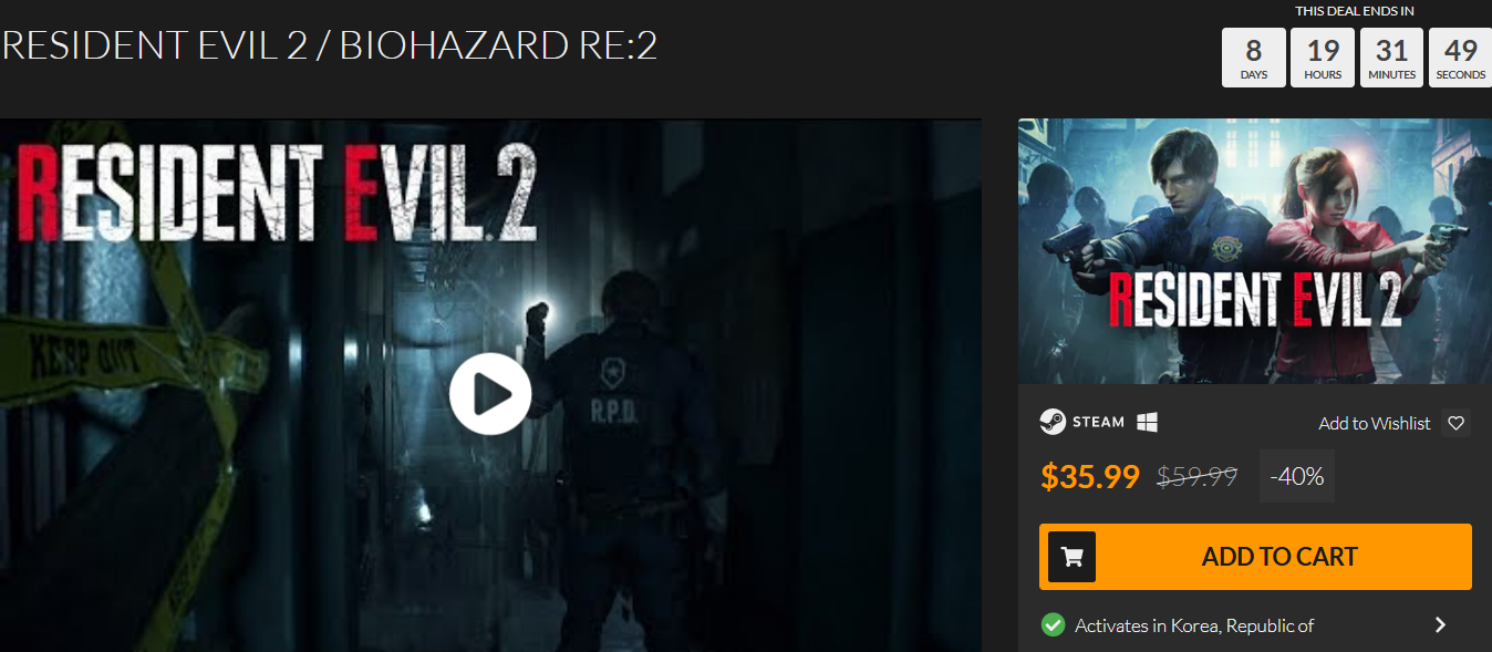 Screenshot_2019-07-22 RESIDENT EVIL 2 BIOHAZARD RE 2 PC Steam Game Fanatical.png