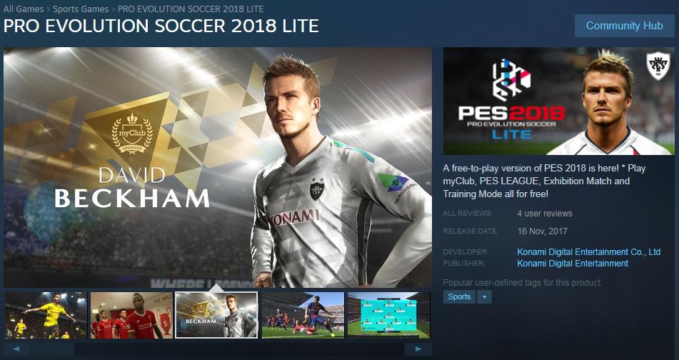 PES 2018 무료 LITE 버전 출시 - 게임 소식 - ITCM
