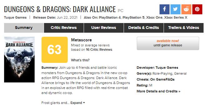 FireShot Capture 2730 - Dungeons & Dragons_ Dark Alliance for PC Reviews - Metacritic_ - www.metacritic.com.png