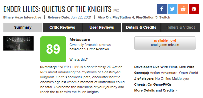 FireShot Capture 2736 - ENDER LILIES_ Quietus of the Knights for PC Reviews - Metacritic_ - www.metacritic.com.png